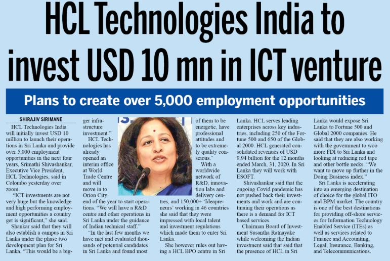 HCL Virtual Daily News Print